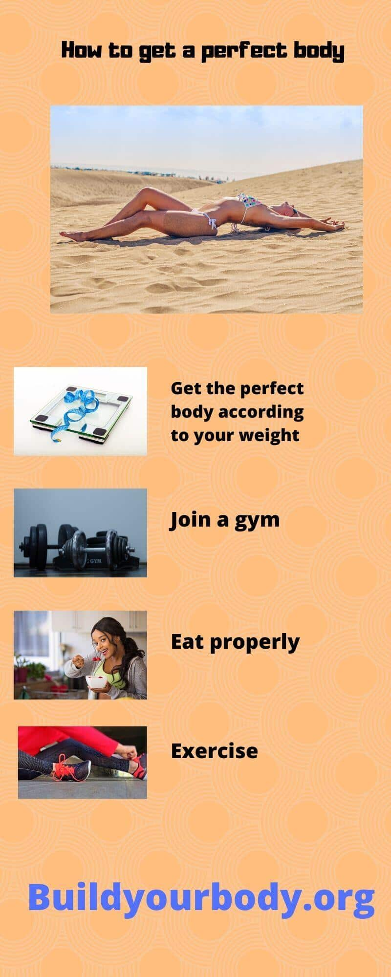 infographics about how to get a perfect body