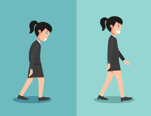 correct posture for walking