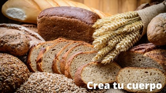 Whole wheat bread, a food with a lot of fiber