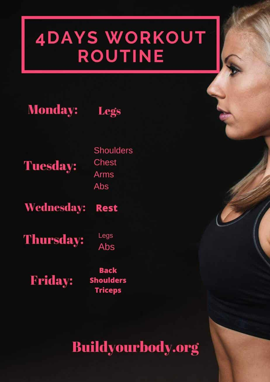 4-day workout routine