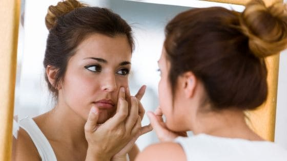 Skin routine to avoid pimples