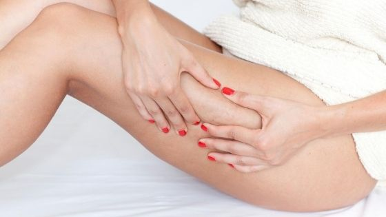 How do you get rid of orange peel skin on legs and buttocks?