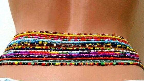 how to wear waist beads