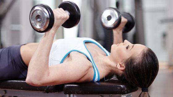 dumbbell chest press, best chest exercises