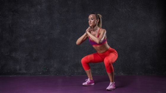 Girl doing squats